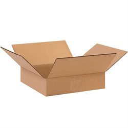 "10 x 10 x 2"" Flat Corrugated Boxes"
