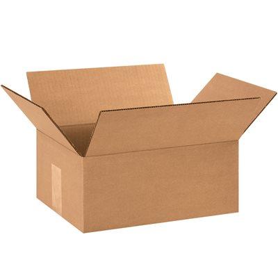 "10 x 7 x 3"" Flat Corrugated Boxes"