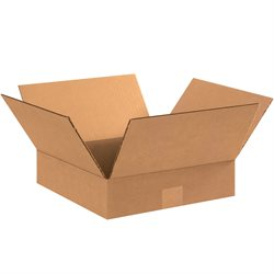 "11 x 11 x 3"" Flat Corrugated Boxes"