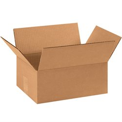 "11 x 8 x 4"" Flat Corrugated Boxes"