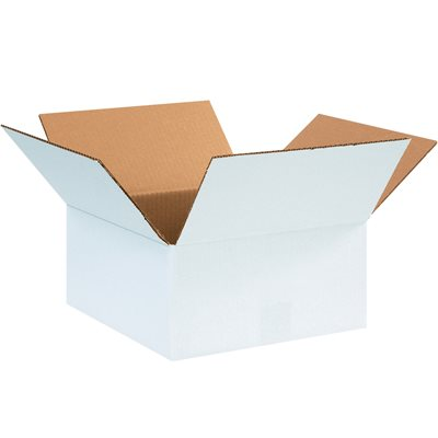 "12 x 12 x 6"" White Corrugated Boxes"