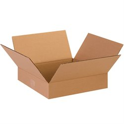 "13 x 13 x 3"" Flat Corrugated Boxes"