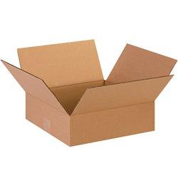 "13 x 13 x 4"" Flat Corrugated Boxes"