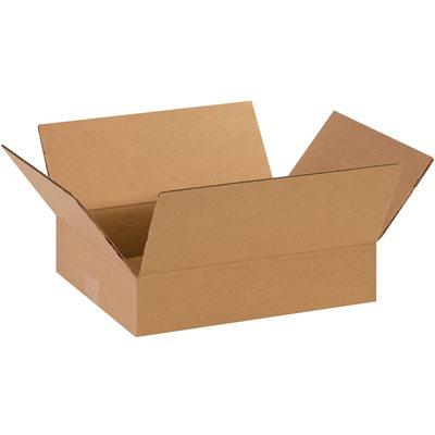 "14 x 11 x 3"" Flat Corrugated Boxes"