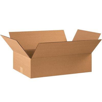 "22 x 12 x 6"" Flat Corrugated Boxes"