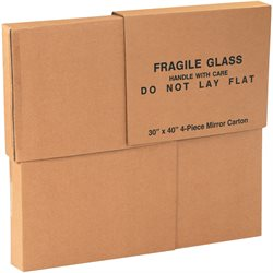"30 x 3 1/2 x 40"" 1 Piece of 30 x 40"" 4-Piece Mirror Boxes"