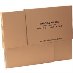 "40 x 3 1/2 cx 60"" 1 Piece of 40 x 60"" 4-Piece Mirror Boxes"
