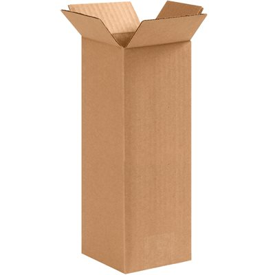 """4 x 4 x 10"""" Tall Corrugated Boxes"""