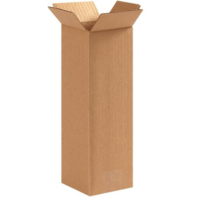 """4 x 4 x 12"""" Tall Corrugated Boxes"""