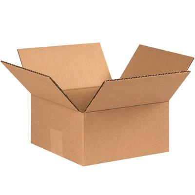 "7 x 7 x 3"" Flat Corrugated Boxes"