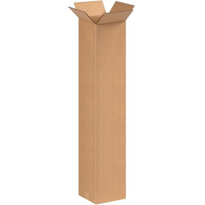 """8 x 8 x 42"""" Tall Corrugated Boxes"""