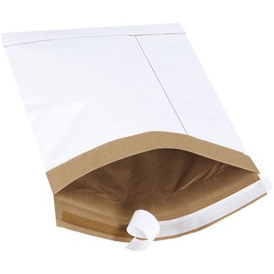 """7 1/4 x 12"""" White (25 Pack) #1 Self-Seal Padded Mailers"""