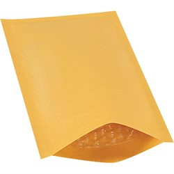 "5 x 10"" Kraft (25 Pack) #00 Heat-Seal Bubble Mailers"