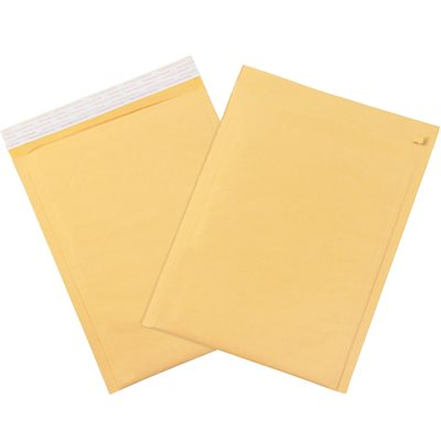 """9 1/2 x 14 1/2"""" Kraft (Freight Saver Pack) #4 Self-Seal Bubble Mailers w/Tear Strip"""