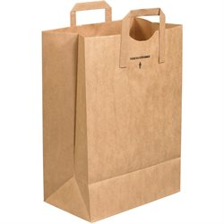"""12 x 7 x 17"""" Flat Handle Grocery Bags"""