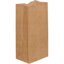"""7 1/8 x 4 1/2 x 13 3/4"""" Kraft Grocery Bags"""
