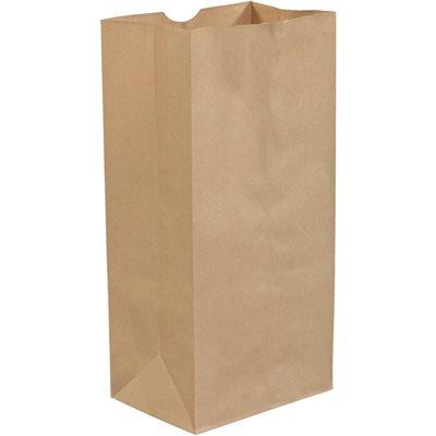 """7 3/4 x 4 3/4 x 16"""" Kraft Grocery Bags"""