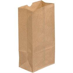 """3 x 1 7/8 x 5 7/8"""" Kraft Grocery Bags"""