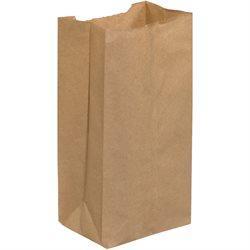 """4 3/4 x 2 15/16 x 8 9/16"""" Kraft Grocery Bags"""