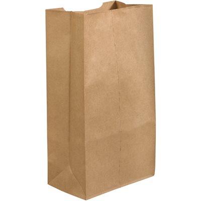 """12 x 7 x 21 3/4"""" Kraft Grocery Bags"""