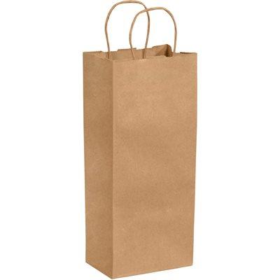 "5 1/2 x 3 1/4 x 13"" Kraft Paper Shopping Bags"