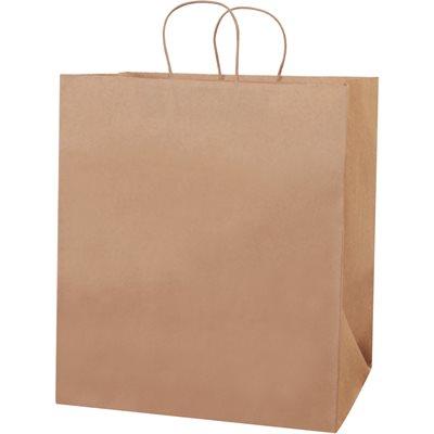 "14 x 10 x 15 1/2"" Kraft Paper Shopping Bags"