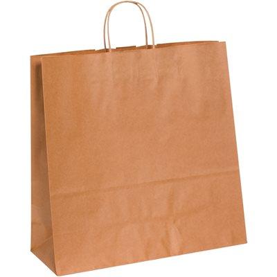"16 x 6 x 15 3/4"" Kraft Paper Shopping Bags"