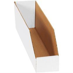 """3 x 18 x 4 1/2"""" White Bin Boxes"""