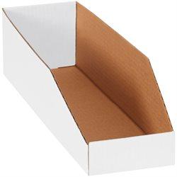 """5 x 18 x 4 1/2"""" White Bin Boxes"""