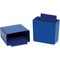 3 1/4 x 1 3/4 x 3 Blue Shelf Bin Cups