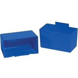 """5 1/8 x 2 3/4 x 3"""" Blue Shelf Bin Cups"""