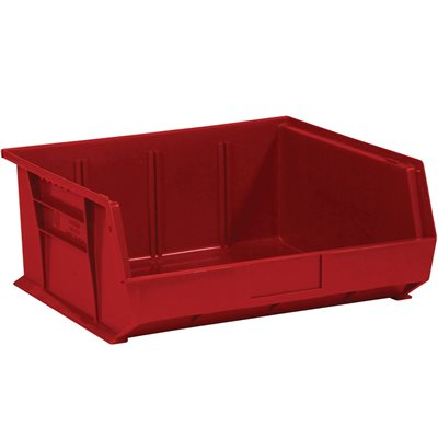 """14 3/4 x 16 1/2 x 7"""" Red Plastic Stack & Hang Bin Boxes"""