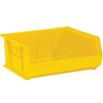 "14 3/4 x 16 1/2 x 7"" Yellow Plastic Stack & Hang Bin Boxes"