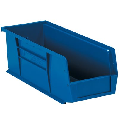 "14 3/4 x 5 1/2 x 5"" Blue Plastic Stack & Hang Bin Boxes"
