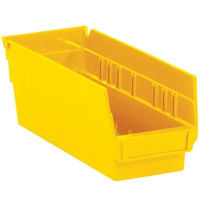 "11 5/8 x 4 1/8 x 4"" Yellow Plastic Shelf Bin Boxes"