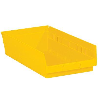 "17 7/8 x 11 1/8 x 4"" Yellow Plastic Shelf Bin Boxes"