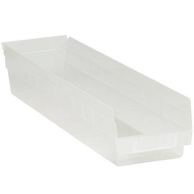 "23 5/8 x 4 1/8 x 4"" Clear Plastic Shelf Bin Boxes"