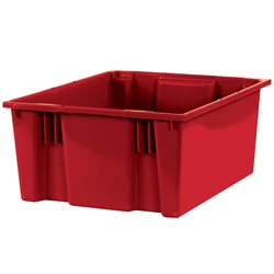 "20 7/8 x 18 1/4 x 9 7/8"" Red Stack & Nest Containers"
