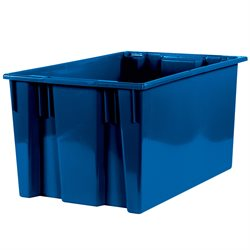 "26 5/8 x 18 1/4 x 14 7/8"" Blue Stack & Nest Containers"