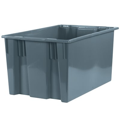 """26 5/8 x 18 1/4 x 14 7/8"""" Gray Stack & Nest Containers"""