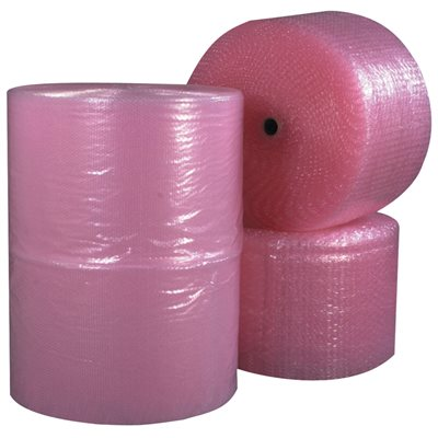 """1/2"""" x 12"""" x 250' (4) Perforated Anti-Static Air Bubble Rolls"""