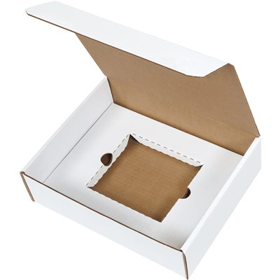 "11 1/8 x 8 3/4 x 3"" White CD Literature Mailer Kits"