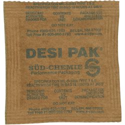 "3 x 3 x 1/4"" Kraft Clay Desiccant Bags - 5 Gallon Pail"