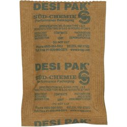 "3 x 4 x 1/4"" Kraft Clay Desiccants - 34 Gallon Drum"