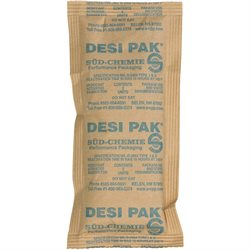"3 x 6 x 3/8"" Kraft Clay Desiccants - 34 Gallon Drum"