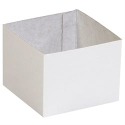 "4 x 4 x 3"" White Deluxe Gift Box Bottoms"