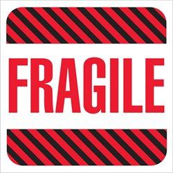 "4 x 4"" - ""Fragile"" Labels"