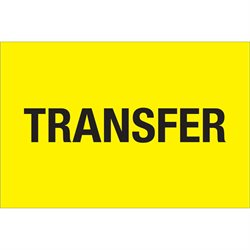 "2 x 3"" - ""Transfer"" (Fluorescent Yellow) Labels"