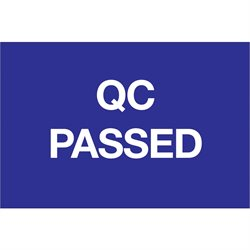 "2 x 3"" - ""QC Passed"" Labels"