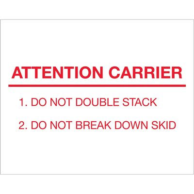 """8 x 10"""" - """"Attention Carrier"""" Labels"""